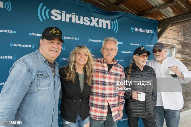 SiriusXM's Jeremy Tepper Paula Nelson Buddy Cannon Willie Nelson and Dallas Wayne attend a discussion of Willie Nelson's new album 'Ride Me Back...
