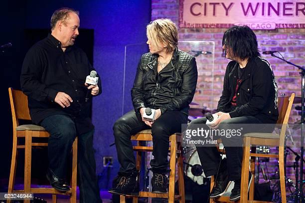 SiriusXM's Jim Ryan interviews John Rzeznik and Robbie Takac of Goo Goo Dolls at City Winery on November 14 2016 in Chicago Illinois