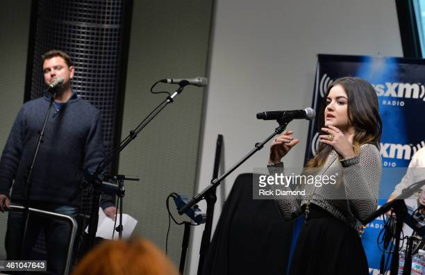 SiriuxXM's host Storme Warren asks questions of Singer/Songwriter Lucy Hale during Singer/Songwriter/Actor Lucy Hale Releases Debut Country Single...
