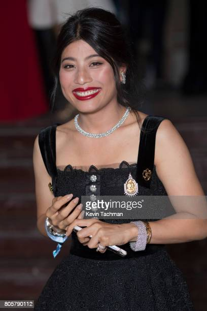 Sirivannavari Nariratana arrives for the amfAR Paris Dinner at Le Petit Palais on July 2 2017 in Paris France