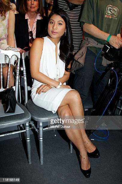 Siriwanwaree Nareerat attends the Christian Dior Haute Couture Fall/Winter 2011/2012 show as part of Paris Fashion Week at Musee Rodin on July 4 2011...