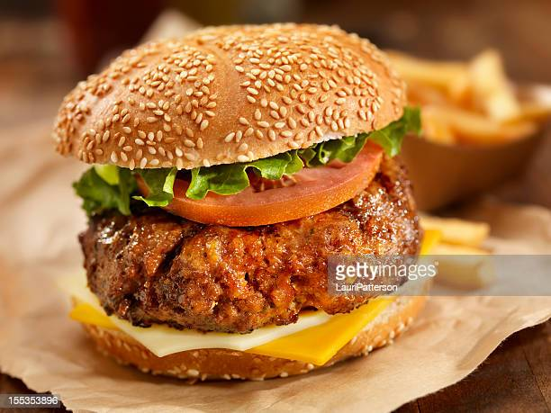 sirloin steak burger - wax paper stock photos and pictures
