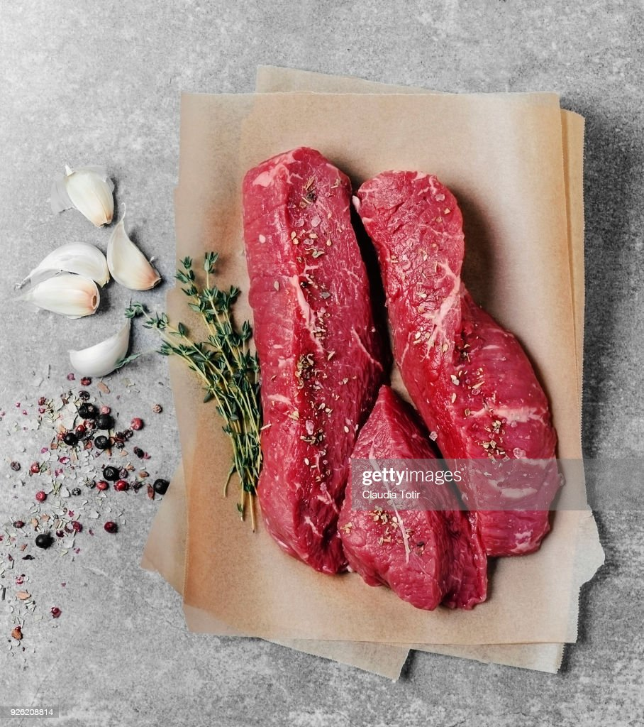 Sirloin strip steak : Stock Photo