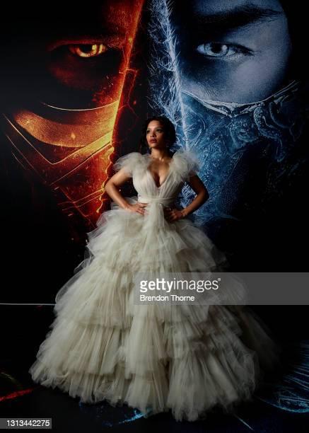 Sisi Stringer attends the Sydney premiere of Mortal Kombat at Hoyts Entertainment Quarter on April 20, 2021 in Sydney, Australia.