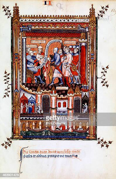 Sisinnius orders the arrest of St Denis 1317 On the advice of his pagan priests Sisinnius orders his soldiers to bring St Denis Manuscript...