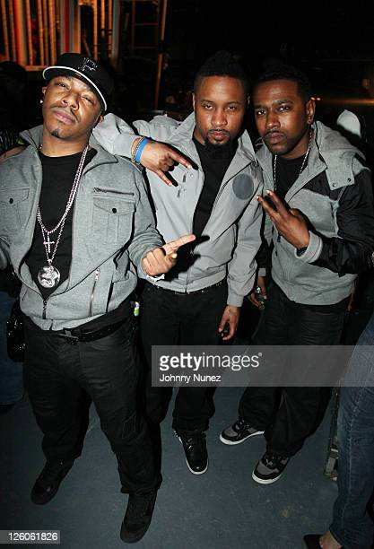 Sisqo Nokio and Tao of Dru Hill attend the Ladies Night Valentine's Day Edition concert at Madison Square Garden on February 10 2011 in New York City