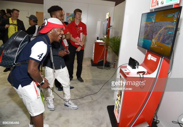 Sisqo visits the Nintendo booth at the 2017 E3 Gaming Convention at Los Angeles Convention Center on June 15 2017 in Los Angeles California