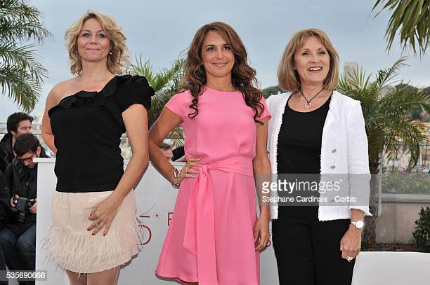 Sisse Graum Jorgensen Alexandra Rapaport and Susse Wold at the photo call for 'Jagten' during the 65th Cannes International Film Festival