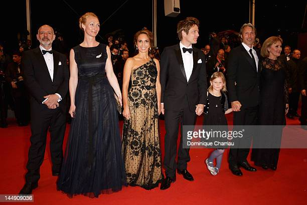 Sisse Graum Jorgensen Alexandra Rapaport Thomas Vinterberg Viola Jacobsen Mikkelsen Mads Mikkelsen and Susse Wold attend the Jagten Premiere during...
