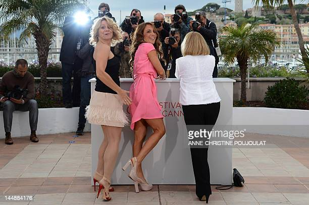 Sisse Graum Jorgensen Swedish actress Alexandra Rapaport and actress Susse Wold pose during the photocall of Jagten presented in competition at the...