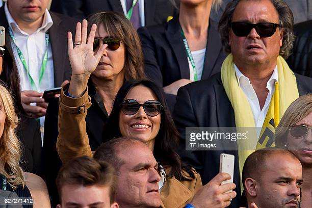 Sissi Tuchel gestures during the DFB Cup Final match 2016 between Bayern Muenchen and Borussia Dortmund at Olympiastadion on May 21 2016 in Berlin...