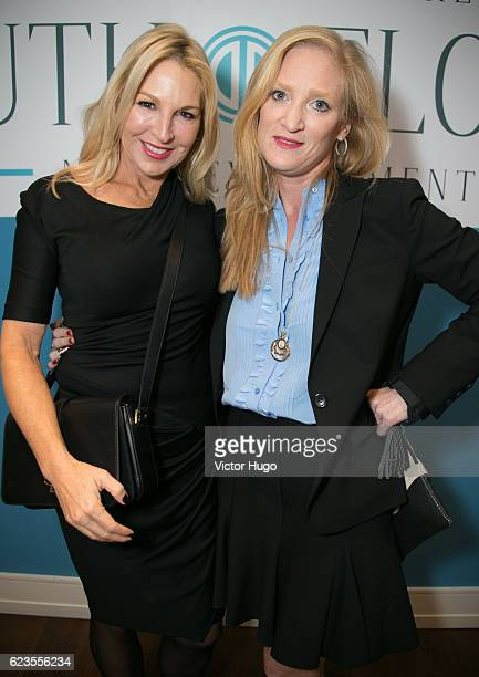 Sissy De Maria Laura Acker attend Preview of One River Point by Rafael Vinoly at 980 Madison Avenue on November 15 2016 in New York City