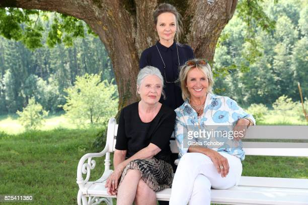 Sissy Hoefferer; Cordula Trantow and Diana Koerner during the 'WaPo Bodensee' photo call at Schloss Freudental on August 1, 2017 in...