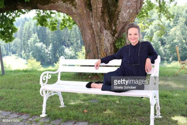 Sissy Hoefferer during the 'WaPo Bodensee' photo call at Schloss Freudental on August 1, 2017 in Allensbach-Freudental near Konstanz, Germany.