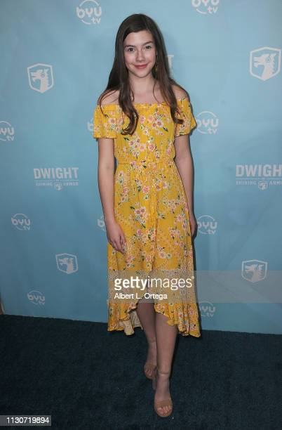 Sissy Sheridan arrives for the Los Angeles Special Screening Of BYUtv's New Series Dwight In Shining Armor held at Pacific Theatres at The Grove on...