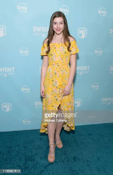 Sissy Sheridan attends a special Los Angeles screening of BYUtv's new series Dwight In Shining Armor at Pacific Theatres at The Grove on March 14...