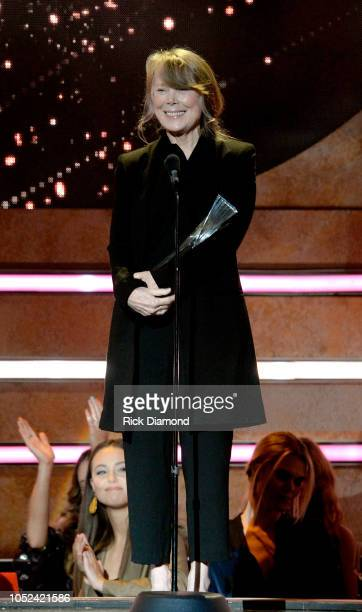 Sissy Spacek accepts an award for Loretta Lynn onstage during the 2018 CMT Artists of The Year at Schermerhorn Symphony Center on October 17 2018 in...