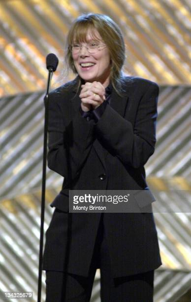 Sissy Spacek accepts her award for AFI Actor of the Year Female Movies for her role in In The Bedroom at the AFI Awards 2001 at the Beverly Hills...