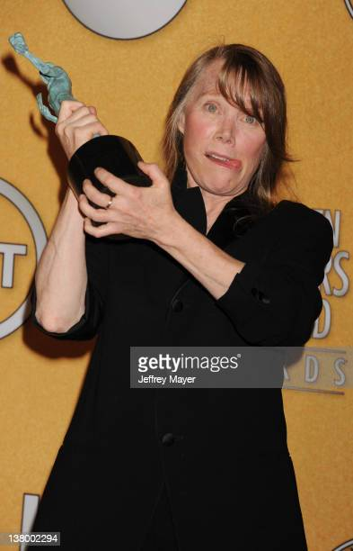 Sissy Spacek poses in the press room at the 18th Annual Screen Actors Guild Awards at The Shrine Auditorium on January 29 2012 in Los Angeles...