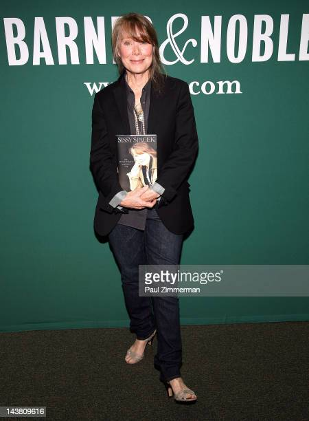Sissy Spacek promotes My Extraordinary Ordinary Life at Barnes Noble Union Square on May 3 2012 in New York City