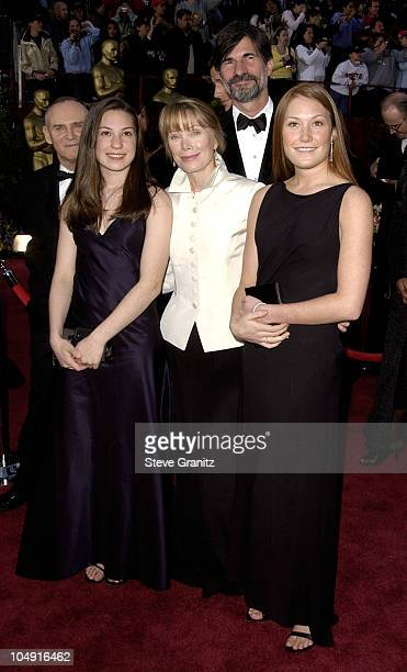 Sissy Spacek with daughters Schuyler and Madison during The 74th Annual Academy Awards Arrivals at Kodak Theater in Hollywood California United States
