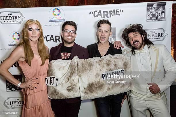 Sissy Spastik Guest Alaska Thunderfuck 5000 and Mario Diaz pose for a picture at the 40th Anniversary Screening Cast Reunion And QA For Carrie After...