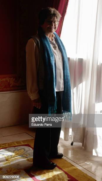 Sister Helen Prejean attends the 'Dead Man Walking' theatre play press conference at Royal Theatre on January 23 2018 in Madrid Spain