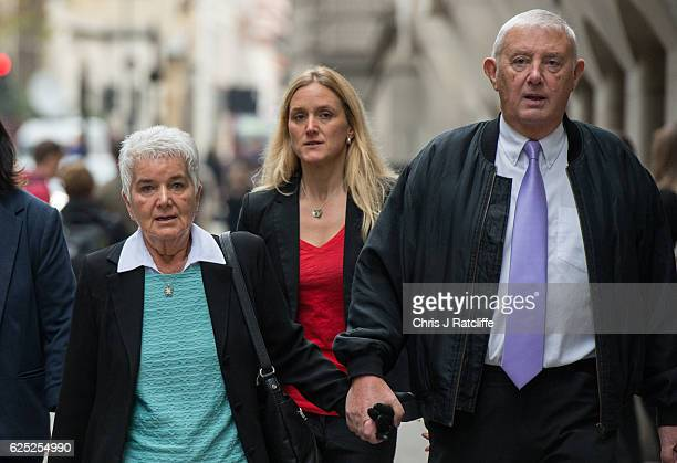 Sister Kim Leadbeater mother Jean Leadbeater and father Gordon Leadbeater arrive for Thomas Mair's trial the man accused of murdering family member...