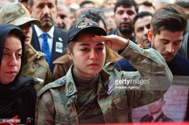 Sister of martyred lieutenant Muhammed Cihangir Cubukcu who was martyred after the terrorist group targeted a Turkish army tank during the 'Operation...