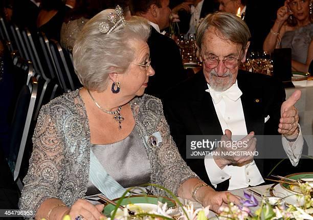 Sister of Swedish King Princess Christina Mrs Magnuson The Nobel Prize in Chemistry 2013 Martin Karplus attend the traditional Nobel Prize banquet at...