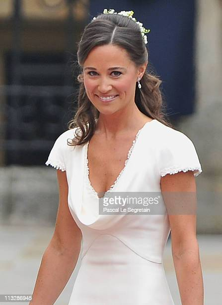 Sister of the bride and Maid of Honour Pippa Middleton arrives to attend the Royal Wedding of Prince William to Catherine Middleton at Westminster...