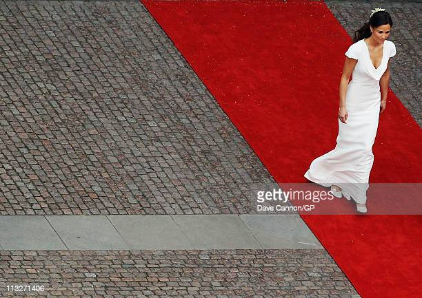 Sister of the Bride and Maid of Honour Pippa Middleton is seen at Westminster Abbey before the Royal Wedding of Prince William to Catherine Middleton...