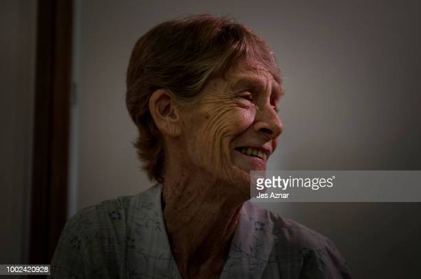 Sister Patricia Anne Fox a 71yearold Australian nun during a press conference on July 20 2018 in Manila Sister Fox is a Roman Catholic nun and has...