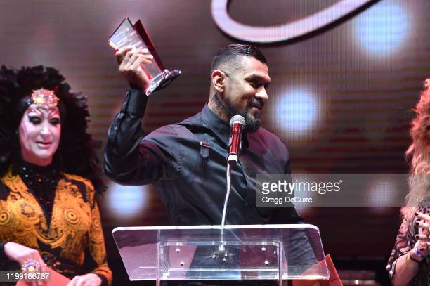 Sister Roma and Boomer Banks speaks onstage at Gay Porn's Biggest Night Str8UpGayPorn Awards Hosted By Kathy Griffin at Avalon Theater on January 12...
