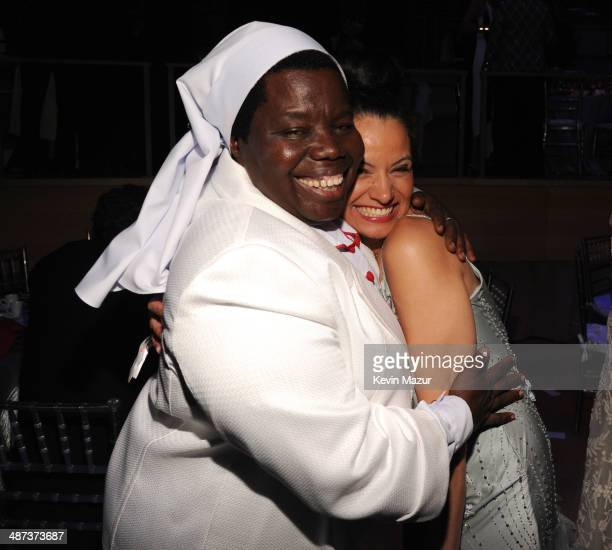 Sister Rosemary Nyirumbe and Withelma 'T' Ortiz Walker Pettigrew attend the TIME 100 Gala TIME's 100 most influential people in the world at Jazz at...