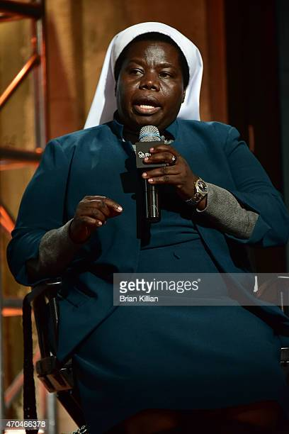 Sister Rosemary speaks at AOL Studios In New York on April 20 2015 in New York City