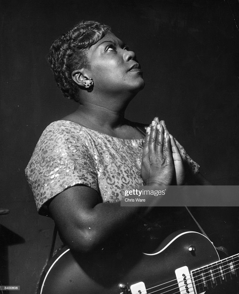 Gospel singer Sister Rosetta Tharpe's influence on early rock pioneers like Elvis and Jerry Lee Lewis earned her a place in the Hall of Fame.