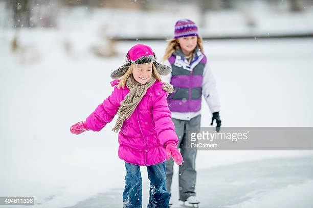 Sister Skating Together