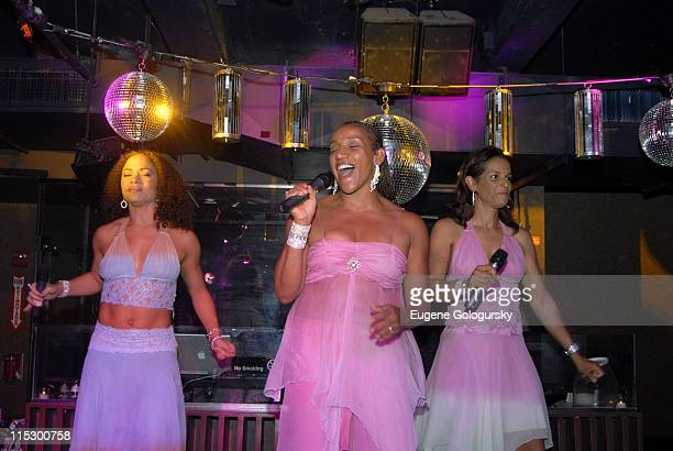 Sister Sledge during Denise Rich Accepts a Donation on Behalf of the GP Foundation at AER in New York City New York United States