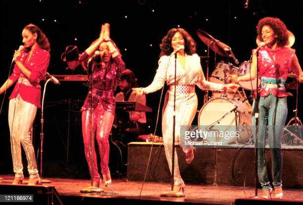 Sister Sledge perform on stage London 1975