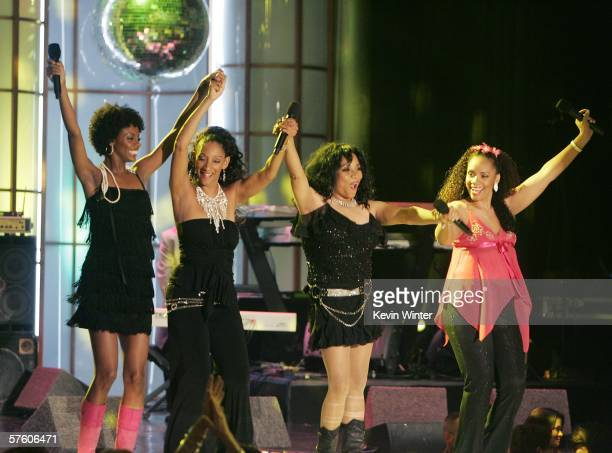 Sister Sledge performs at the 13th Annual Race to Erase MS 'Disco Fever' at the Century Plaza Hotel on May 12 2006 in Los Angeles California