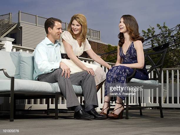 Sisters Barbara Pierce Bush Jenna Bush Hager and Jenna's husband Henry Hager pose for a portrait session at Jenna and Henry's Baltimore home in 2010
