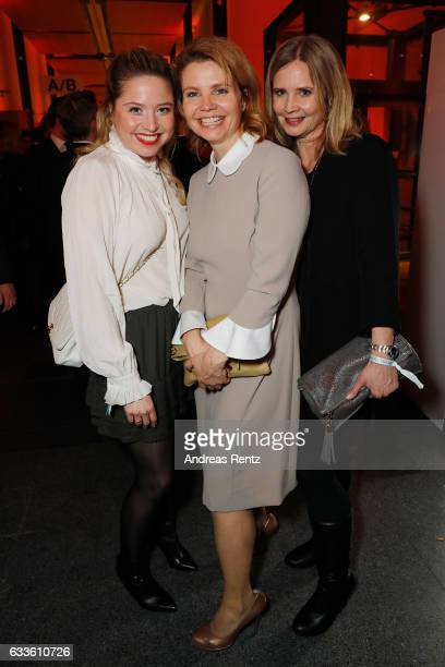 Sisters Caroline Frier Annette Frier and Sabine Frier attend the German Television Award at Rheinterrasse on February 2 2017 in Duesseldorf Germany