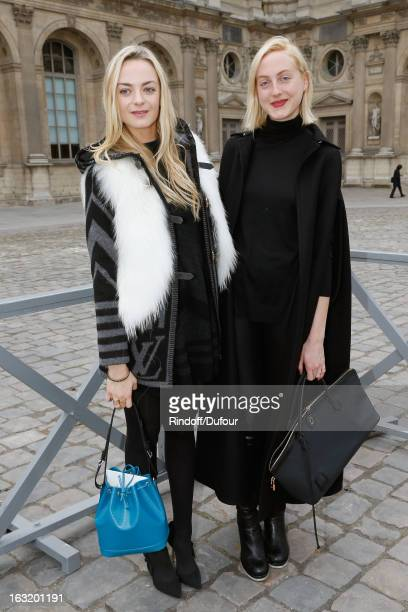 Sisters Claire CourtinClarins and Virginie CourtinClarins arrive to attend the Louis Vuitton Fall/Winter 2013 ReadytoWear show as part of Paris...
