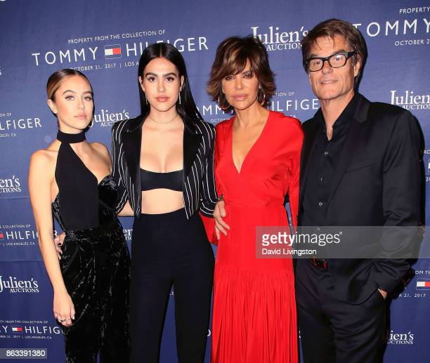 Sisters Delilah Belle Hamlin and Amelia Gray Hamlin and parents/actors Lisa Rinna and Harry Hamlin attend Julien's Auctions and Tommy Hilfiger VIP...
