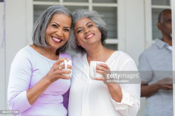 Sisters enjoying coffee togehter