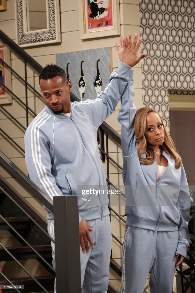 MARLON -- 'Sisters' Episode 202 -- Pictured: (l-r) Marlon Wayans as Marlon Wayne, Essence Atkins as Ashley Wayne --