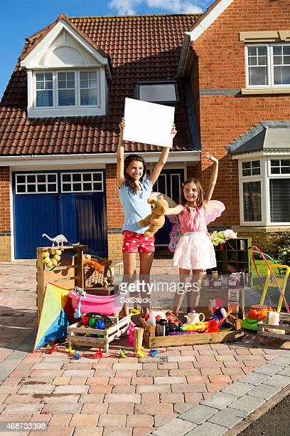 Sisters Having a Yard Sale