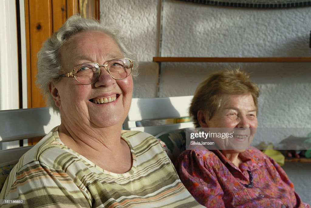 sisters in law, for more than 50 years : Stock Photo