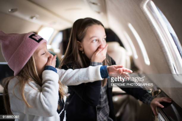 Sisters in the airplane